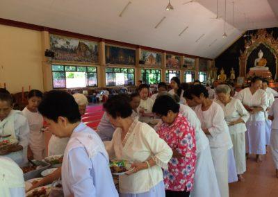 Every month of meditation course of Buddharaksa assosiation of Watsriboonruang Fang Chiangmai